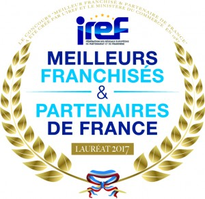 IREF 2017 meilleur franchisé et partenaire de france - lauréat